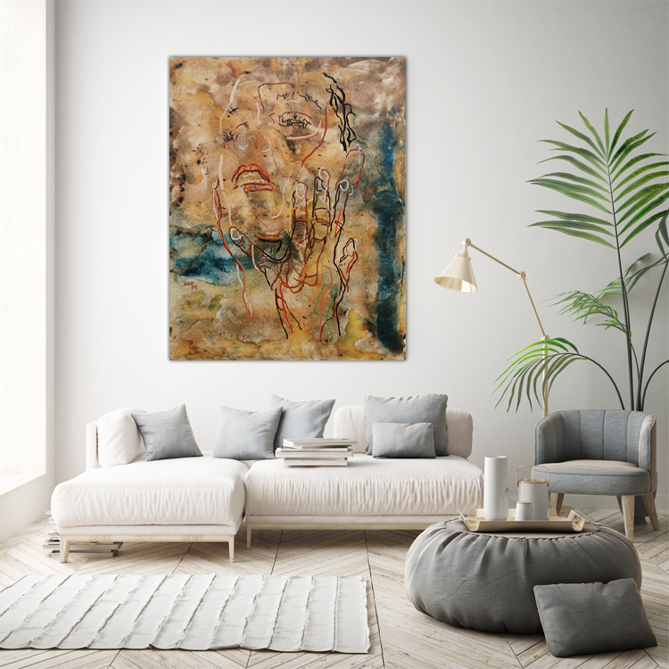 Artwork in a living room - VIII 57 - Don't ask me