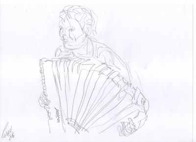 DR 28 - Accordion player